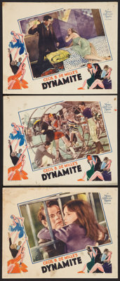 "Dynamite (MGM, 1929). Lobby Cards (3) (11"" X 14""). Drama. ... (Total: 3 Items)"