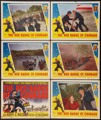 "The Red Badge of Courage (MGM, 1951). Title Lobby Card & Lobby Cards (5) (11"" X 14""). War. ... (Total:..."