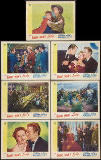 """The Great Man's Lady (Paramount, 1941). Lobby Cards (7) (11"""" X 14""""). Romance. ... (Total: 7 Items)"""