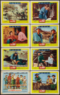 """Movie Posters:Western, The Big Country (United Artists, 1958). Lobby Card Set of 8 (11"""" X 14""""). Western.. ... (Total: 8 Items)"""