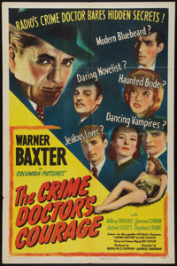 "The Crime Doctor's Courage (Columbia, 1945). One Sheet (27"" X 41""). Mystery"