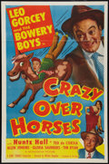 "Movie Posters:Sports, Crazy Over Horses (Monogram, 1951). One Sheet (27"" X 41""). Sports.. ..."