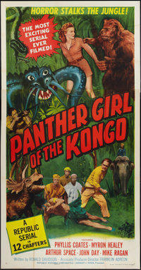 "Panther Girl of the Kongo (Republic, 1955). Three Sheet (41"" X 81""). Serial"