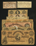 Confederate Notes:Group Lots, Confederate 1863-64 Notes, City of Richmond 1862 Note, and CSA BondCoupons.. ... (Total: 9 items)