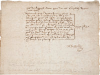 Sir Walter Raleigh Document Signed