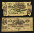 Confederate Notes:1862 Issues, T42 and T45.. ... (Total: 2 notes)