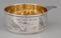 Silver Holloware, American:Bowls, AN AMERICAN SILVER AND SILVER GILT CHILD'S PORRINGER . H.R. Morss& Co., Inc., Attleboro, Massachusetts, circa 1935. Marks:...
