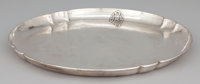 AN AMERICAN SILVER TRAY WITH HAND HAMMERED FINISH F. Novick, Chicago, Illinois, circa 1910 Marks: STERLING