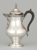 Silver Holloware, American:Tea Pots, AN AMERICAN SILVER TEAPOT WITH WOOD HANDLE . Shreve, Crump & Low Co., Inc., Boston, Massachusetts, circa 1875. Marks: SHRE...