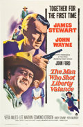 "Movie Posters:Western, The Man Who Shot Liberty Valance (Paramount, 1962). One Sheet (27""X 41"").. ..."