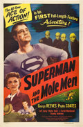 """Movie Posters:Action, Superman and the Mole Men (Lippert, 1951). One Sheet (27"""" X 41"""")....."""
