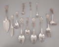 Silver Flatware, American:Reed & Barton, A SET OF TWELVE AMERICAN SILVER SERVING PIECES . Reed & Barton,Taunton, Massachusetts, circa 1907. Marks: (eagle-R-Lion), ...(Total: 12 Items)