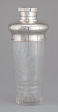 Silver Holloware, American:Other , AN AMERICAN CUT GLASS AND SILVER COCKTAIL SHAKER . Ershine V. VanHouton, White Plains, New York, circa 1950. Marks: H, ST...