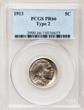 Proof Buffalo Nickels: , 1913 5C Type Two PR66 PCGS. PCGS Population (91/51). NGC Census:(77/41). Mintage: 1,514. Numismedia Wsl. Price for problem...