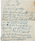 """Music Memorabilia:Autographs and Signed Items, Billie Holiday """"This Is It"""" Handwritten Lyrics...."""