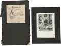 Movie/TV Memorabilia:Autographs and Signed Items, Laurence Olivier Signed Script with Olivier/Vivienne Leigh Signed Photo.... (Total: 2 Items)