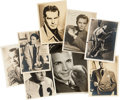 Movie/TV Memorabilia:Autographs and Signed Items, Johnny Weissmuller, Edward G. Robinson, and Others Signed Photos.... (Total: 8 )
