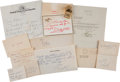Movie/TV Memorabilia:Documents, Ed Wynigear's Personal Correspondence.... (Total: 7 )
