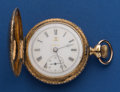 Timepieces:Pocket (post 1900), Hampden 18 Size With Fancy Dial Pocket Watch. ...