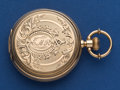 Timepieces:Pocket (post 1900), Waltham 6 Size Unmarked Gold Hunters Case. ...