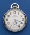 Timepieces:Pocket (post 1900), Hamilton 992 B Stainless Steel Case Pocket Watch. ...