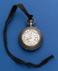 Timepieces:Pocket (post 1900), Swiss 48 mm Fancy Dial Silver Pocket Watch With Engraved FancyMovement. ...