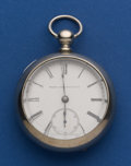 Timepieces:Pocket (pre 1900) , Elgin 18 Size 11 Jewel Key Wind Fahys Pair Case. ...