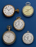 Timepieces:Pocket (post 1900), A Whole Sale Lot of Five Pocket Watches. ... (Total: 5 Items)