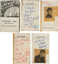 Music Memorabilia:Autographs and Signed Items, The Beatles Band-Signed Cavern Club Booklet, Including PeteBest....