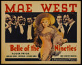 """Movie Posters:Comedy, Belle of the Nineties (Paramount, 1934). Half Sheet (22"""" X 28"""")Style B. Comedy. ..."""
