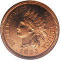 Proof Indian Cents: , 1893 1C PR65 Red Cameo NGC. The red-orange surfaces of this powerfully struck example display no disfiguring marks. A coupl...
