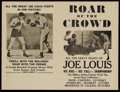 Movie Posters:Sports, Roar of the Crowd (Norman, 1953) and Joe Louis Fight Films. Heralds (6) (Various sizes). Sports Documentary. ... (Total: 6 Items)