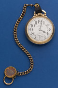 Timepieces:Pocket (post 1900), Hamilton 21 Jewel 992 B With Chain & Indian Cent Fob. ...