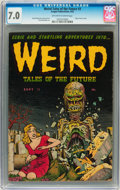 Golden Age (1938-1955):Horror, Weird Tales of the Future #3 (Aragon, 1952) CGC FN/VF 7.0 Off-whiteto white pages....