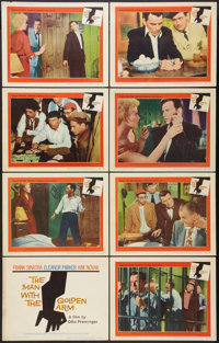 """The Man with the Golden Arm (United Artists, 1955). Lobby Card Set of 8 (11"""" X 14""""). Drama. ... (Total: 8 Item..."""