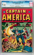 Golden Age (1938-1955):Superhero, Captain America Comics #30 (Timely, 1943) CGC NM+ 9.6 Off-white to white pages....