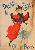 Prints:European Modern, THE COLLECTION OF PAUL GREGORY AND JANET GAYNOR. JULES CHÉRET(French, 1836-1932). Palais de Glace, 1895. Color lithog...