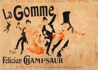 THE COLLECTION OF PAUL GREGORY AND JANET GAYNOR  JULES CHÉRET (French, 1836-1932) La Gomme, pa