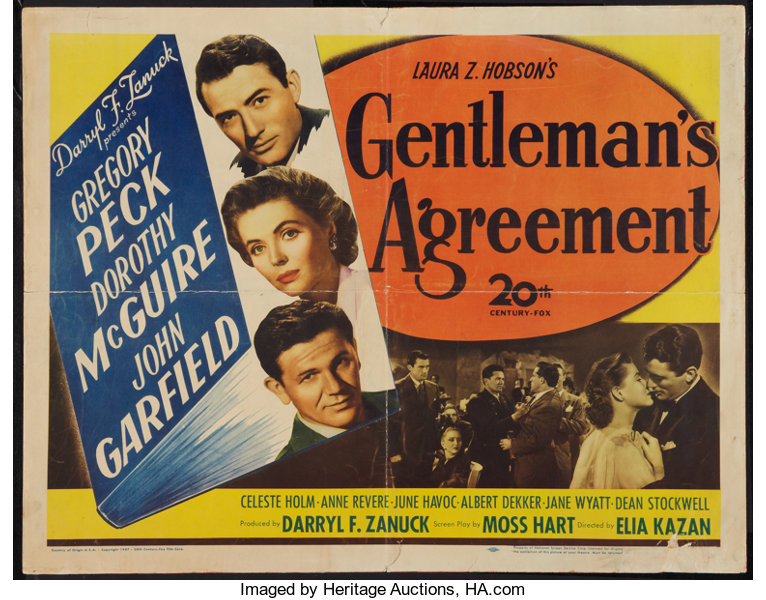 Image result for gentleman's agreement images