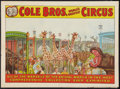 "Movie Posters:Miscellaneous, Circus Poster (Cole Brothers, 1930s). Poster (21.5"" X 28"").Miscellaneous.. ..."