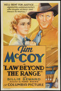 "Movie Posters:Western, Law Beyond the Range (Columbia, 1935). One Sheet (27"" X 41""). Western.. ..."