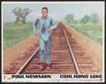 "Movie Posters:Drama, Cool Hand Luke (Warner Brothers, 1967). Lobby Card (11"" X 14""). Drama.. ..."