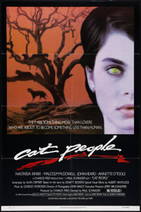 "Cat People (Universal, 1982). One Sheet (27"" X 41""), and Lobby Card Set of 8 (11"" X 14""). Horror..."