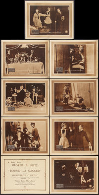 "Bound and Gagged (Pathé, 1919). Lobby Card Set of 9 (11"" X 14""). Episode 10 -- ""Hopley Takes the L..."