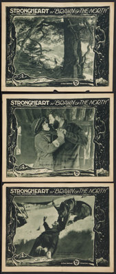 """Brawn of the North (First National, 1922). Lobby Cards (3) (11"""" X 14""""). Adventure. ... (Total: 3 Items)"""