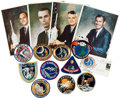Movie/TV Memorabilia:Autographs and Signed Items, Apollo Astronauts Autographs and Patches Collection.... (Total: 15)