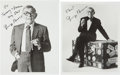 Movie/TV Memorabilia:Autographs and Signed Items, George Burns Signed Items and Others.... (Total: 6 )