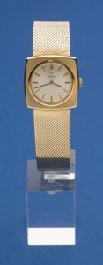 Timepieces:Wristwatch, Omega Gents 14k Gold Wristwatch 14k Gold Band. ...