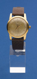 Timepieces:Wristwatch, Omega 18k Gold Bumper Automatic Wristwatch. ...