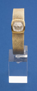 Timepieces:Wristwatch, Jaeger LeCoultre Ladies 18k Gold Bracelet Wristwatch. ...
